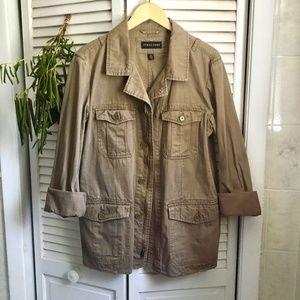 {Vintage Structure} Zip Utility/Cargo Jacket, S